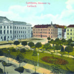 Post card Historical Archives of Ljubljana