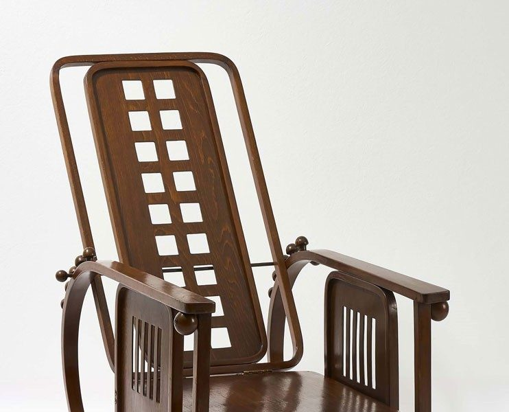 """Josef Hoffmann, Chaise longue, Modèle no. 670 """"Sitzmachine"""", Vienne, ca.1905 ©MAK, Georg Mayer"""