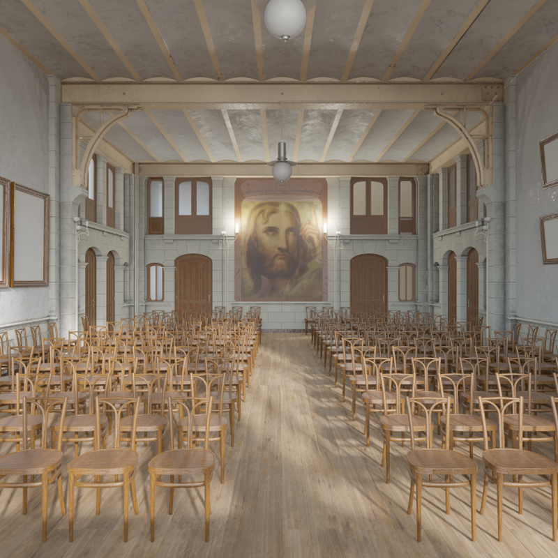 View of the Matteoti room, Maison du Peuple ©Laboratoire Alice - La Cambre-Horta & Musée Horta