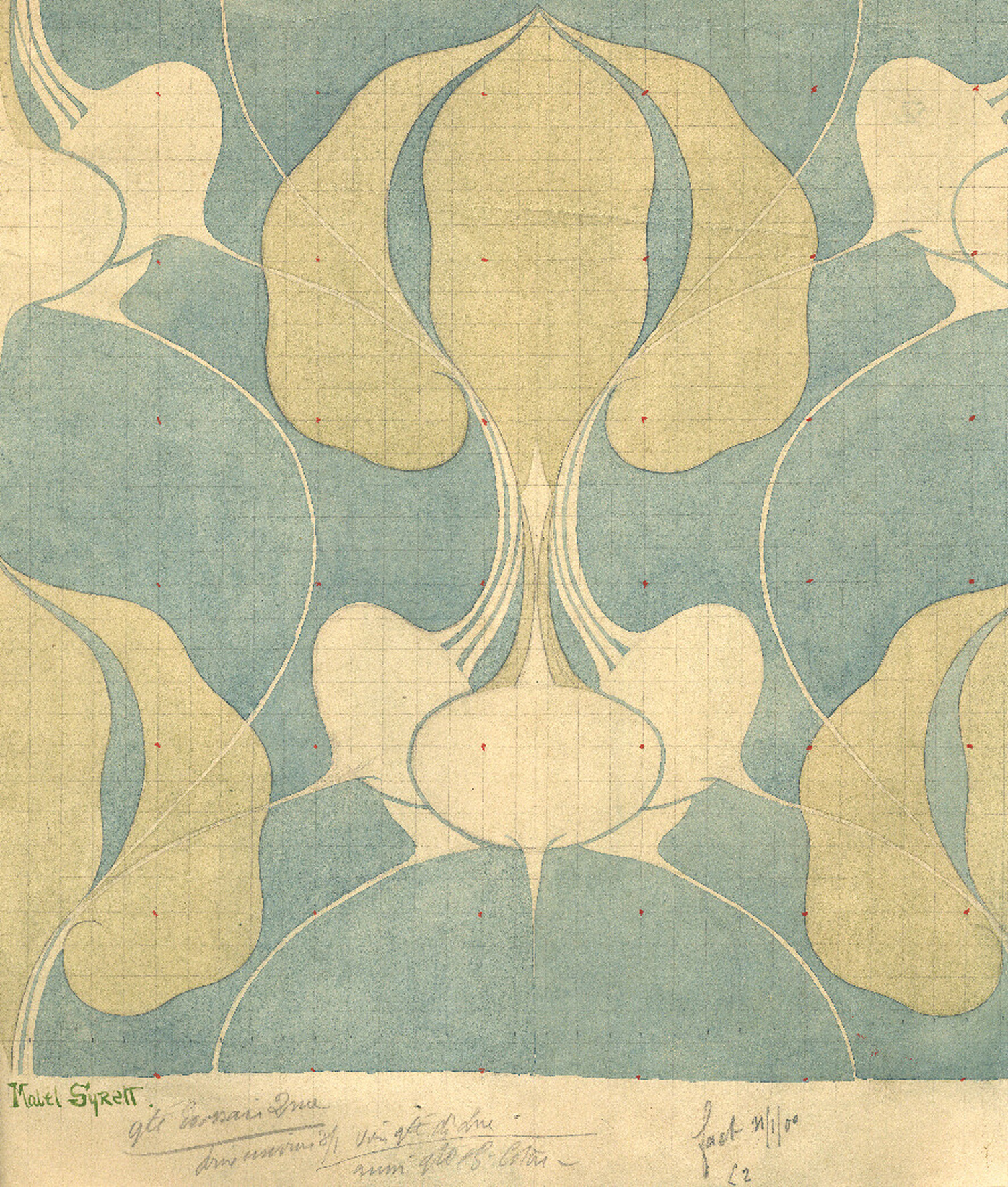 Fabric project, 1904. Brussels, private collection ©Mabell Syrett